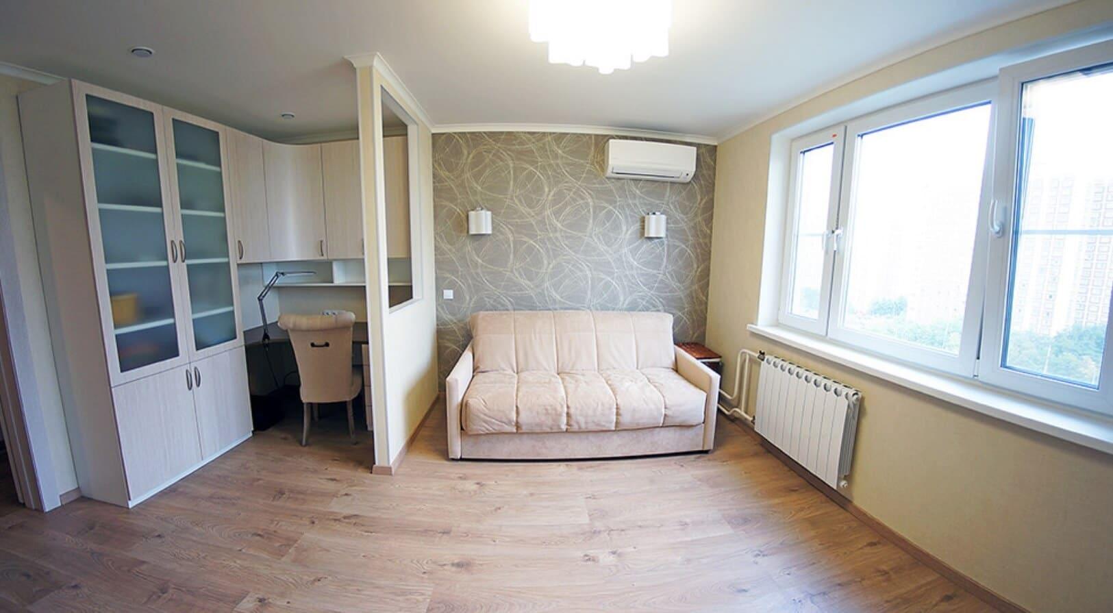 ремонт однокомнатной квартиры с меблировкой